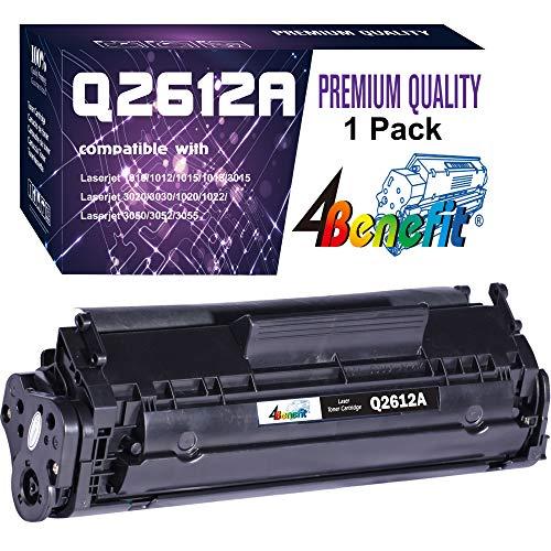 4Benefit Compatible 12A 2612A Q2612A Toner Cartridge Used for HP Laserjet Laserjet Pro 1010 1012 1018 1020 1022 1022n 3015 3030 3050 3052 3055 M1319F Printer (1-Pack, Black)
