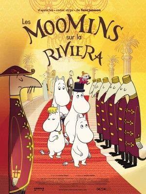 Moomins ON The Riviera – Französisch Film Poster Plakat Drucken Bild - 43.2 x 60.7cm Größe Grösse Filmplakat