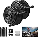 Newtion 2 Pack 26' Bike Inner Tubes with 5 Tire Levers, 26' x 1.75/2.125 Replacement Bicycle Inner Tubes, Durable Butyl Rubber Bike Tubes Repair Tool Kit