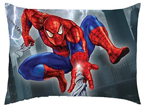 Blenzza Deco Velvet Spiderman Digital Print Baby Pillow (12 x 18 Inches)