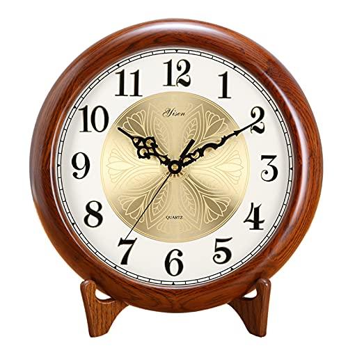 XGJJ Reloj de mesa retro, silencioso, sin tictac, fácil de leer, utilizado para sala de estar, dormitorio, reloj de pared