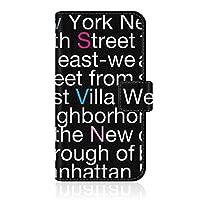CaseMarket 【手帳型】 apple iPhone 12 iPhone12 用 スリムケース ステッチモデル [ New York Typography スリム ダイアリー ] レザー手帳 ステッチ & ストラップホール