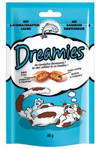 Dreamies Katzensnack mit Lachs 6x60g Katzenfutter