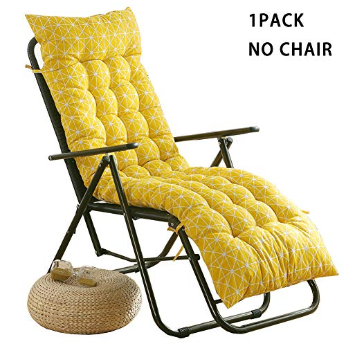 Sun Lounger Cushion Thick Padded Chair Pad with Backrest,Outdoor Garden Patio High Back Seat Pad,Relaxer Recliner Mattress Wooden Chair Cushion for Bench Holiday