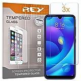 REY 3X Protector de Pantalla para XIAOMI MI Play, Cristal Vidrio Templado Premium