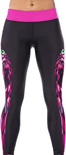 Sister Amy Women's Fitness Hihg Waist Yoga Pants Printed Stretch Ankle Legging Owl