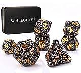 Set Dados, Juego de 7 Dados de Metal, Dados D&D, Juego de Dungeons and Dragons, Juegos de rol en La ...