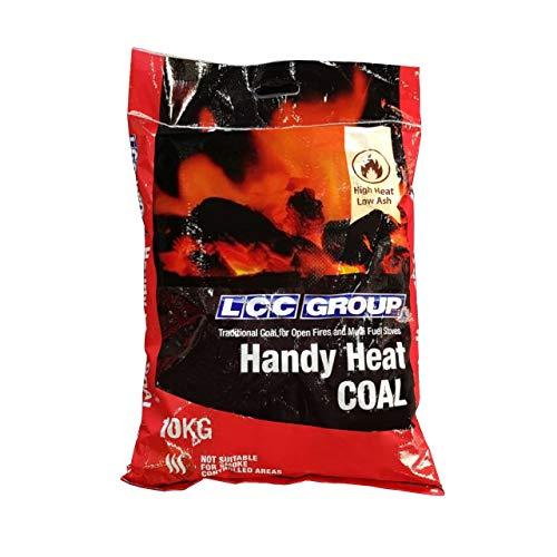 Kohle perfekt für offene Feuer, Mehrstofföfen, 1 x 10 kg Beutel, handlich zu handhaben, gibt hohe Hitze