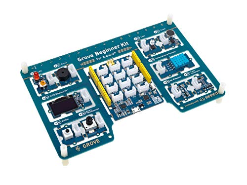 seeed studio Arduino Starter Kit Grove Beginner Kit - Scheda Compatibile Arduino Uno all-in-One con 10 sensori Arduino e 12 progetti Arduino per Principianti e Steam Education