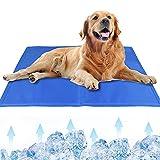 MMTX Tappetino Rinfrescante per Cani Animali Domestici Tappeto Autorinfrescante Gel Non Tossico Giaciglio Rinfrescante Stuoia per Cani Gatti Persone Laptop Cuscini Estate Blu