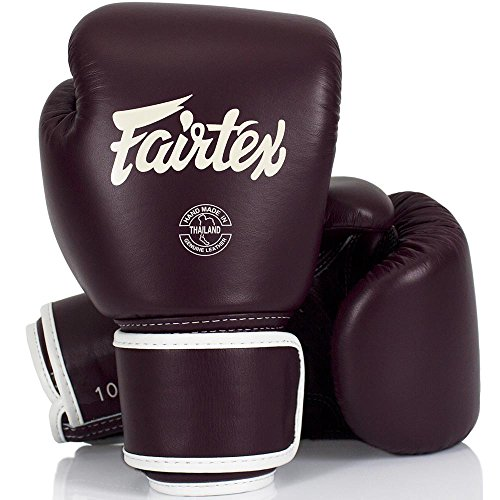 Fairtex Boxhandschuhe, Leder, BGV16, Maroon, Boxing Gloves, Muay Thai Größe 12 Oz