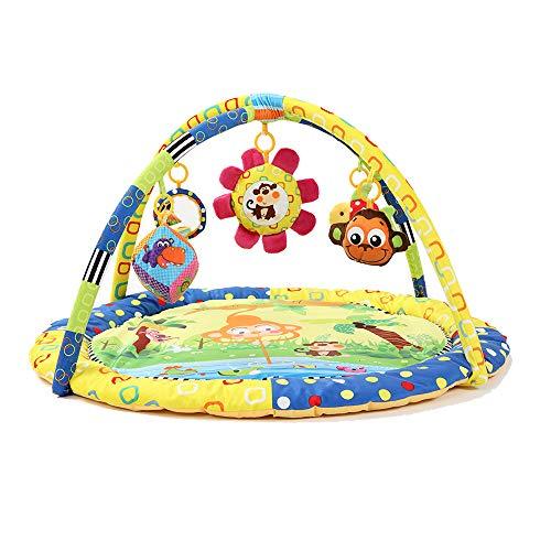 Babyspeelmat, Soft Activity Gym met kleurrijke knuffels en muziek, Baby Developmental Play Mat Activity Gym