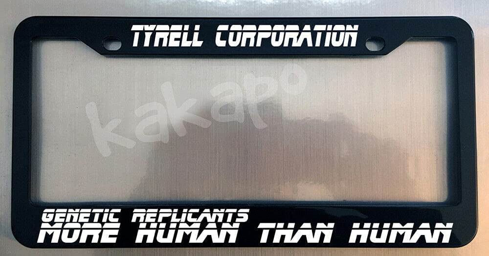Tyrell corp Genetic Replicants.. shipfree Fees free Black BLADE Frame Plate License