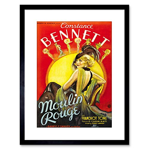 Wee Blue Coo MOVIE FILM MOULIN ROUGE MUZIEKE COMEDY CONSTANCE BENNETT FRAMED PRINT F97X4126