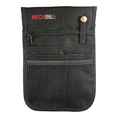 Nurse Vet Pouch Waist Bag Pocket Pick Organiser with adj. Belt. Black. from MEDILINE-UK