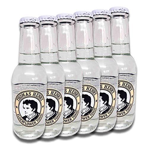 6 Flaschen Thomas Henry Elderflower Tonic a 200ml Glas inc. 0.90€ MEHRWEG Pfand