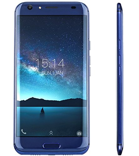 DOOGEE BL5000-5.5 Zoll FHD Android 7.0 4G Smartphone (5050mAh Batterie), DREI Kameras (8MP + 13MP + 13MP), MTK6750T Octa Core 4GB RAM 64GB ROM, Schnelle Ladung - Blau
