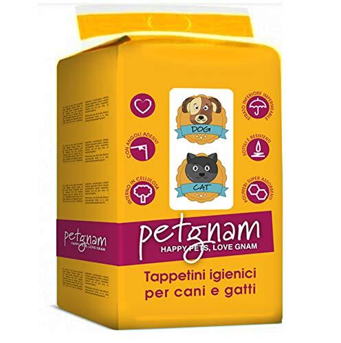 100 Tappetini Assorbenti per Cani 60x60cm Pannolini Igienici Tappeti Traverse Adesive con Adesivi per Fissarli al Pavimento