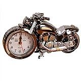FinerMe Vintage Mini Motorcycle/Bicycle Model Alarm Clock Battery Powered Desk Shelf Clock Creative (Motorcycle Model)