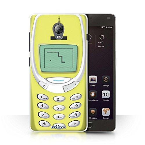 Stuff4 Hülle/Hülle für Lenovo Vibe P1 / Gelbes Nokia 3310 Muster/Vintage Handys Kollektion
