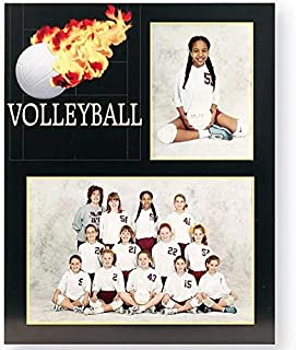 Volleyball Player/Team 7x5/3.50x5 MEMORY MATES cardstock double photo frame sold in 10's - 5x7
