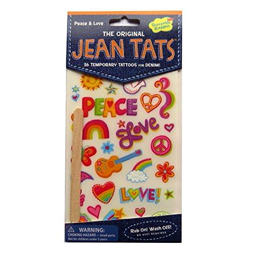 L'original Jean / Denim / Tissu Tatouages - la paix et l'amour - par Peaceable Kingdom