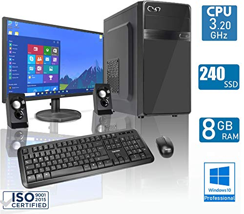 - CeO Delta V2 - PC Complet - AMD 200GE 3.20GHz 4MB Cache | 8Go RAM | 240 Go SSD | Radeon Vega 3 | HDMI/VGA Full HD | USB 3.0 | DVD | WI-FI | Moniteur LED 22"