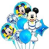Hilloly 16 Pcs Globos De Cumpleaños,Mickey Globos,Decoraciones de cumpleaños de,Juego de Globos de Fiesta de,Decoraciones de Fiesta de Cumpleaños para Niños, de Globos Decorativos Colgantes