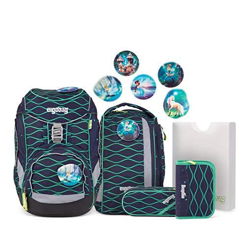 Ergobag Pack BlubbBär, ergonomischer Schulrucksack, Set 6-teilig, 20 Liter, 1.100 g, Blau