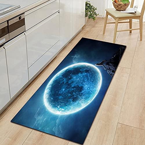 HLXX Mysterious Planet, Alfombra para Empezar, Alfombra para Piso de Cocina, decoración para el Piso del Dormitorio, Sala de Estar, Alfombra para baño, Felpudo A13 50x160cm
