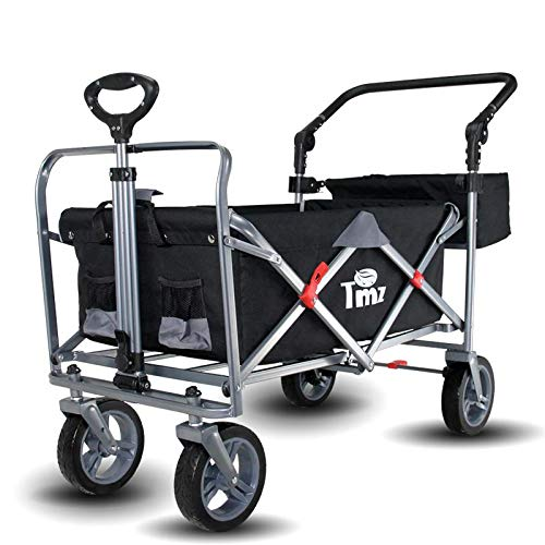 TMZ中輪ステーションワゴン、ワイドカータイヤ屋外トラック、調整可能な後部プッシュハンドル、前輪の回転と転位の折りたたみ、ワンステップブレーキ、頑丈で耐久性のあるスチールフレーム、自立(保管が容易)120KG