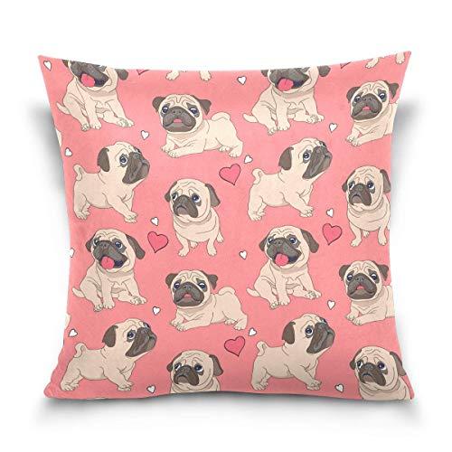Asekngvo Funda de Almohada de Tiro de 18x18 Pulgadas, Fundas de Almohada Decorativas para Perros Cachorros Bonitos, Funda de cojín para sofá CAM