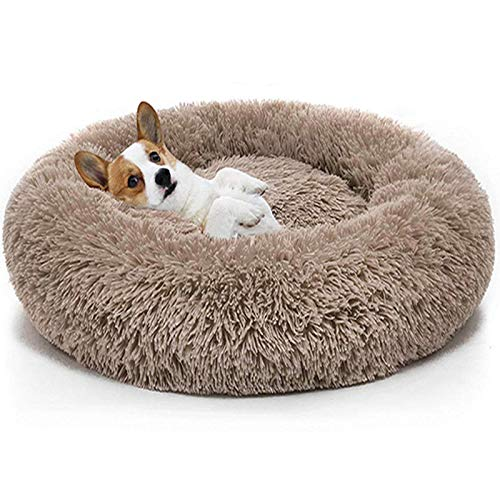 Katzenbett Tierbett,Haustierbett Hundesofa Katzensofa Schlafplatz Flauschig Weicher Waschbar für Katzen und kleine mittlere Hunde Schlafen Bette (Braun)
