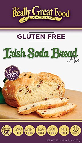 Really Great Food Company – Gluten Free Irish Soda Bread Mix – Large 25 ounce box - No Nuts, Soy, Dairy, Eggs - Vegan, Kosher, Non-GMO and Plant Based