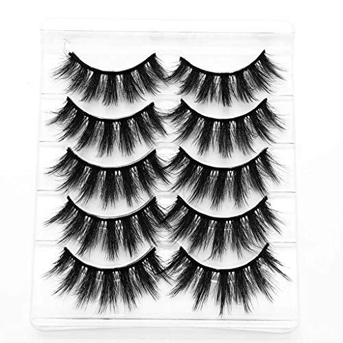 Générique Faux Cils Magnétique, 3D Cils Fausses Magnétiques sans Colle Cils Magnetique Naturel Sexy, 5 pcs Aimants Faux Cils Volume Russe Cils Magnetique Eyeliner Mascaras (A, Taille Unique)