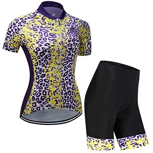 Ciclismo Maillot Mujeres Jersey + Pantalones Cortos Culote Mangas Cortas de Ciclismo...