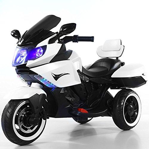 Moto Motocicletta Elettrica per Bambini 12V Star Kids Sidney Bianca