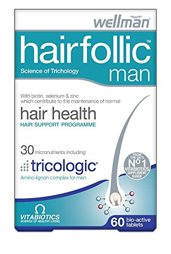 Vitabiotics Wellman Hairfollic Man - 60 Tablets (Pack of 6)