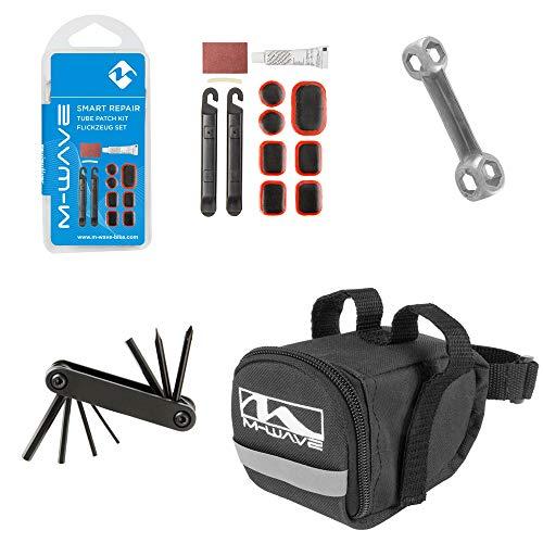 M-Wave Unisex - Juego de Herramientas para reparación de Bicicletas de Adultos Repairkit - Herramienta para reparación, Color Negro