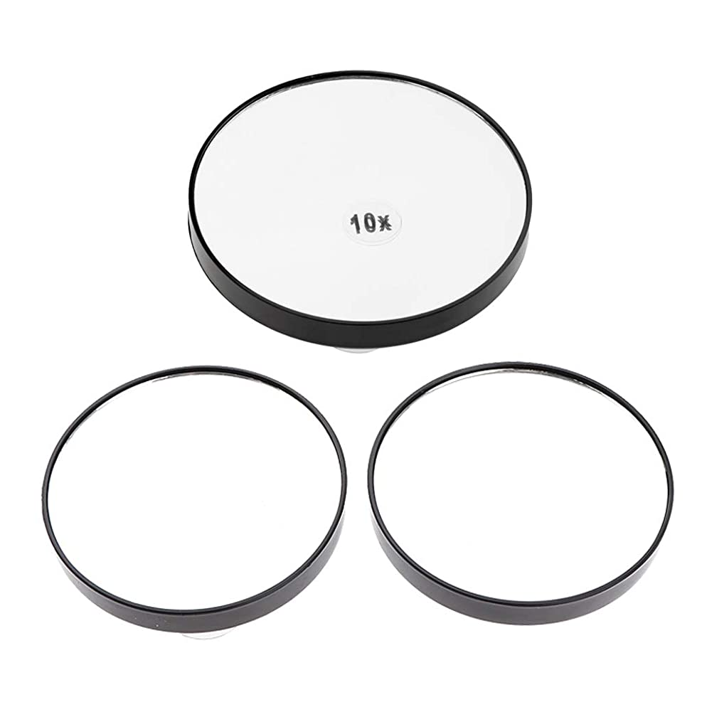 P Prettyia メイクアップ鏡 5倍/ 10倍拡大 吸盤付き ミラー