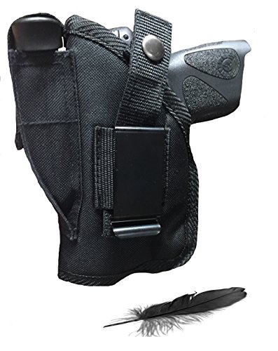 Feather Lite Fits Sig Sauer P-938 with Laser Has Soft Nylon, Inside or Outside The Pants Gun Holster.