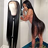30 40 Inch Bone Straight Lace Front Human Hair Wigs for Black Women Pre Plucked Brazilian hair Remy 13x4 Lace Frontal Wig