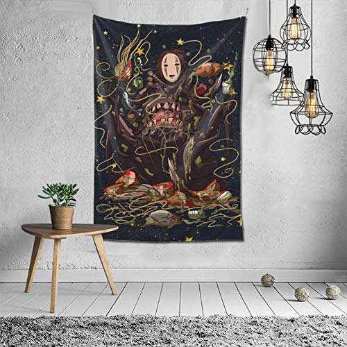 ETONKIDD Studio Ghibli,Hayao Miyazaki Anime,Spir-ited Away,No face Tapestry Soft Durable Wall Hanging Tapestries for Living Room Bedroom Decor (60x40Inches)
