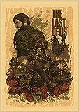 ruyanruomeng Póster Lienzo Pintura Retro The Last of Us Cuadros Artísticos De Pared Moderno Sin Marco Decoración del Hogar Impresiones Artísticas Quadro Cuadros K644(40X60Cm)