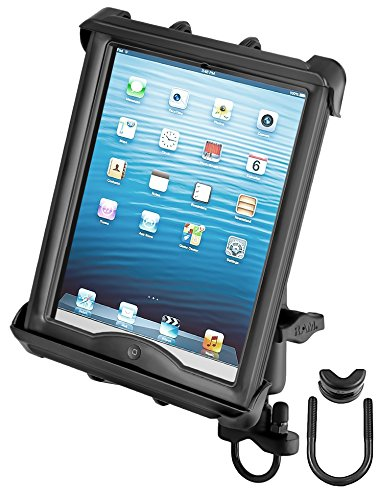 RAM MOUNTS (RAM-B-149Z-TAB8U Handlebar Or Rail Mount with Tab-Tite Universal Clamping Cradle for Large Tablets with Heavy Duty Cases