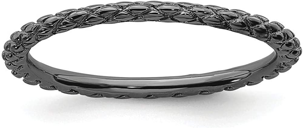 Roy Rose Jewelry Sterling Black-Pla Ranking TOP3 Stackable quality assurance Silver Expressions