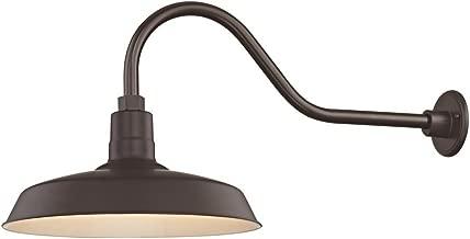 Bronze Gooseneck Barn Light with 16
