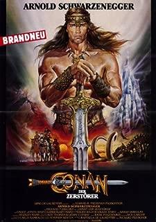 Conan the Destroyer Poster Movie German 11x17 Arnold Schwarzenegger Grace Jones Wilt Chamberlain