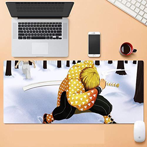 Anime Alfombra De Ratón Anime Demon Slayer丨800X300Mm丨Almohadilla De Rubbe Durable丨Estera De Teclado Estera De Escritorio Computadora Tableta Juego Mouse Pad-C_700*300 * 3MM