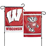 "Wincraft, NCAA Wisconsin Badgers Garden Flag, 12""x18"", 2-Sided, Team Color"